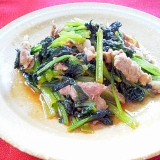 豚肉と小松菜のソテー
