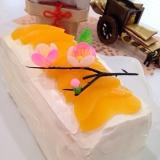 雛祭り♡赤ちゃんOK!ヨーグルト使い切り♡桃ケーキ
