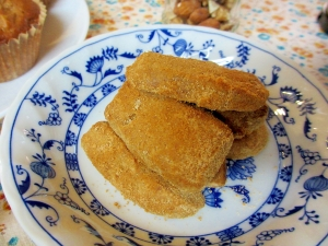 [お手伝いレシピ]黒糖きな粉クッキー