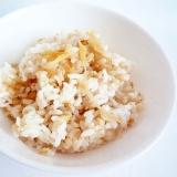 もち麦と生姜の炊き込みご飯