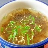中華味のもずくスープ