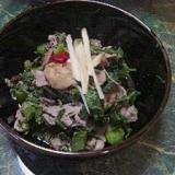 生高菜と豚肉の味噌炒め