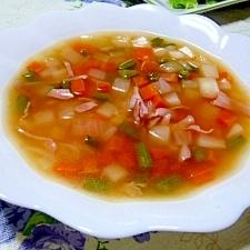 サイコロ野菜スープ