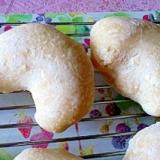 ハートの白パン