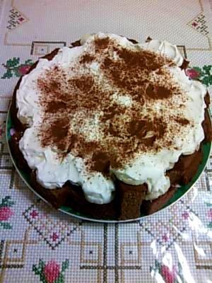 簡単☆チョコバナナケーキ