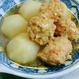 カブと鶏団子の煮物