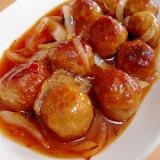 肉団子と玉ねぎのスイートチリソース炒め