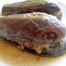 茄子とひき肉◆めんつゆで簡単煮浸し