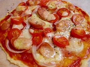 小麦粉だけで作る生地!すぐできる簡単ピザ