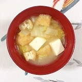 白菜と小揚げのお味噌汁