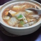 豆腐としいたけのキムチ鍋