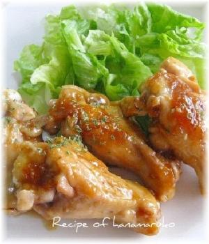 鶏手羽元の甘辛マーマレード煮