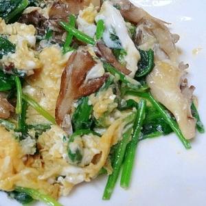 栄養満点☆ 「ほうれん草と舞茸の卵炒め」