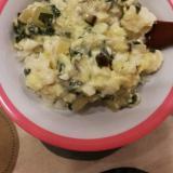 【離乳食後期】豆腐と野菜の餡かけ卵とじ丼