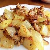 ひき肉とポテトのカレー炒め