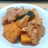 ★かぼちゃと豚と厚揚げのピリ辛炒め煮★