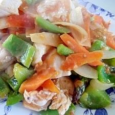 鶏胸肉でスウィート&サワー野菜炒め