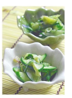 胡瓜と茗荷の和え物