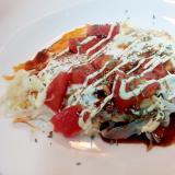 キャベツとフルーツトマトの目玉焼き