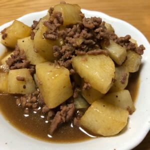 山芋とひき肉の煮物
