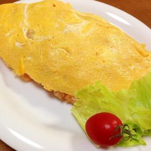チーズ入りオムライス