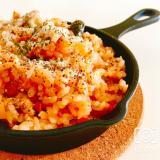 炊飯器で炊くだけ!トマト缶でチキンライス