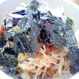 納豆の食べ方-味ポンでさっぱり☆キャベツ♪