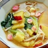+にんにく醤油❤薩摩芋と小松菜の味噌汁♪