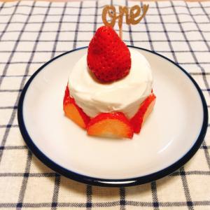1歳のお祝いに★食パンとヨーグルトで作るケーキ♪