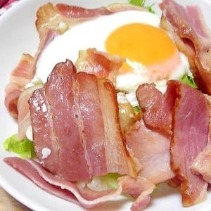 ベーコンエッグ丼焼き肉のタレのソース