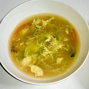 千切り野菜コンソメスープ