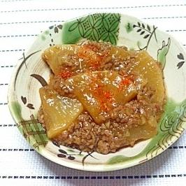 とろっと温まる♪大根と合挽肉の生姜煮☆