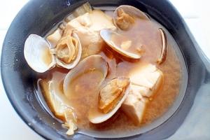 【簡単】ゆず豆腐を使って上品アサリのお味噌汁