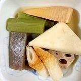 レンコン、蕗、筍、こんにゃく、はんぺんの煮物