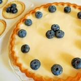生のブルーベリーで ❤ 夏のレアチーズケーキ