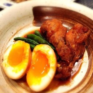 とろ〜り♡半熟卵と手羽元の甘辛煮