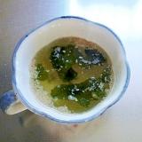 電子レンジで簡単わかめスープ