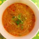 もやしの辛味噌スープ