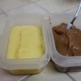 全卵で簡単カスタードクリーム&チョコカスタード