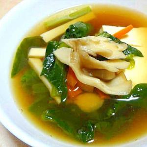 豆腐の野菜あんかけ風和風スープ