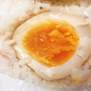 ボリューム満点煮卵おにぎり