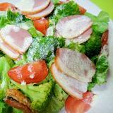 合鴨とブロッコリーレタスのサラダ