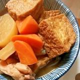 厚揚げと鶏肉と大根の煮物★生姜風味