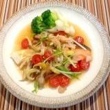 糖質制限✳︎鮭のソテーとたっぷり野菜のマリネサラダ