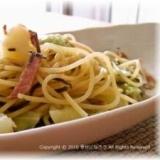 春キャベツとジャガイモの和風スープスパゲッティ
