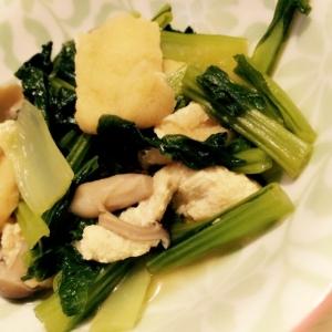 簡単おいしい♪小松菜と揚げの煮浸し