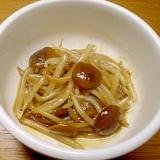 ナメコとモヤシの炒め物