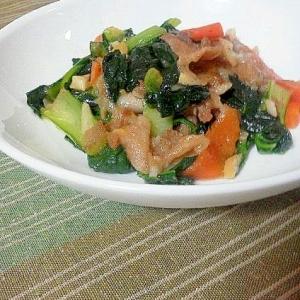 中華だしナシで簡単中華風☆豚肉とターサイの炒め物♪