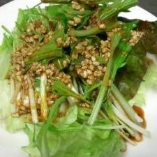 水菜の韓流サラダ