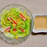 ゴーヤとカニカマとレタスのサラダ